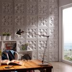 1000 White Alhambra decorative stone panel office