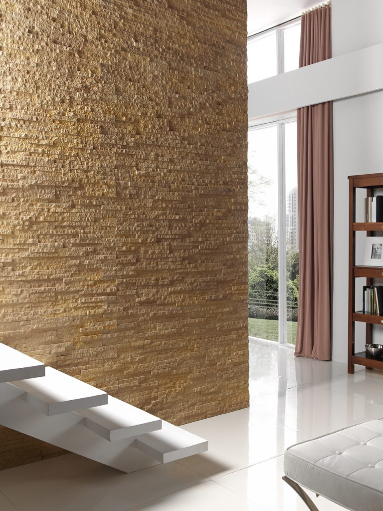 310 Ochre Inspiration faux stone wall cladding staircase