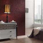 353 Coco Bordeaux featrure wall bedroom