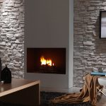 430 Sandy WHite Montblanc faux slate wall cladding fireplace