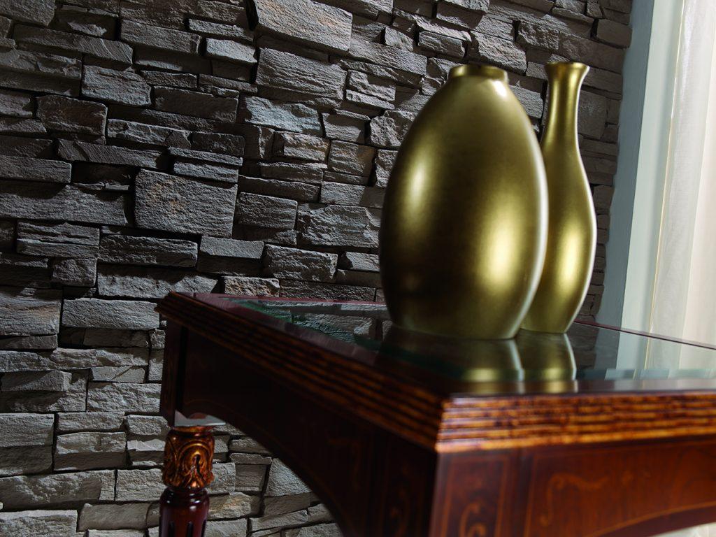431 Brown Montblanc Slate close up vase (431)