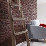 Urban Faux Brick wall panels living room (509)