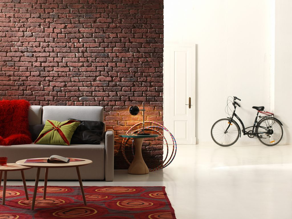 Aged Loft Brick Industrial look with faux brick panels (530)
