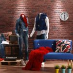 540-Aged-red-British-brick-wall-panel-in-a-clothing-shop