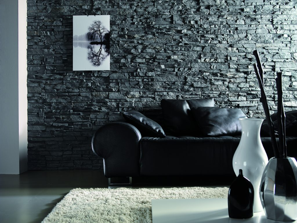 Panel Stone Anthracite Slate Feature Wall PR-24