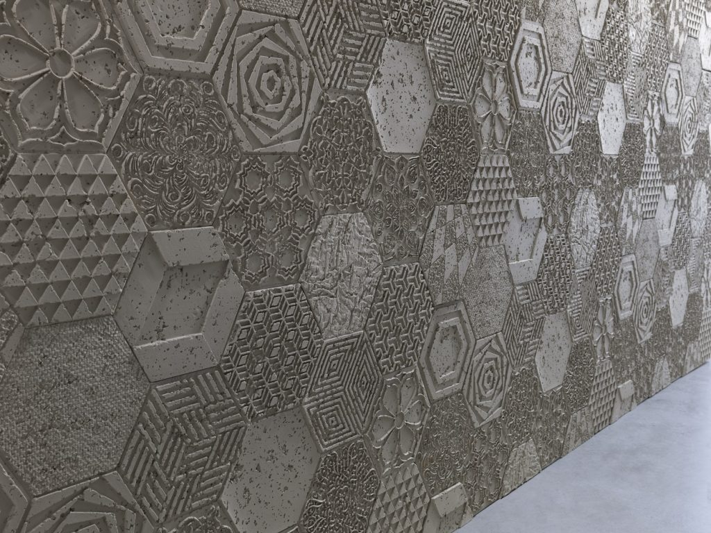 HEXAGONAL CONCRETE PANELS